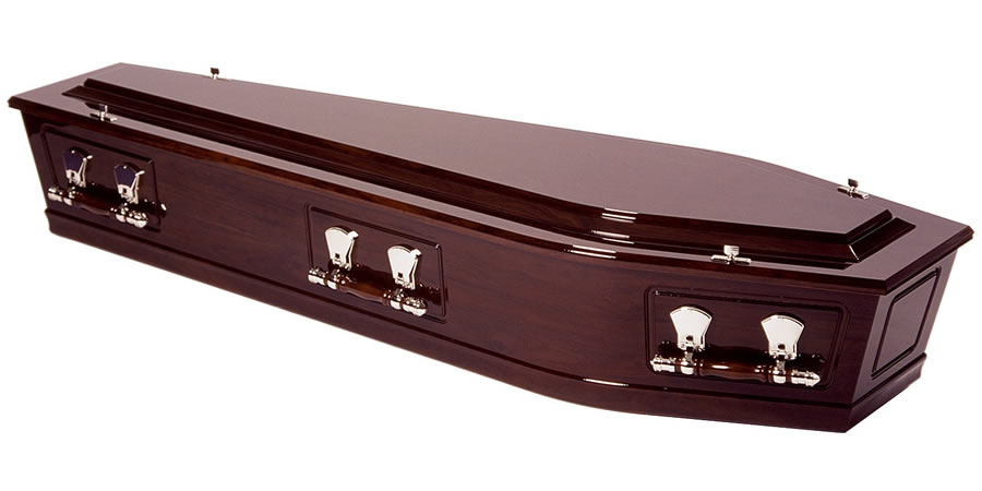 Rutherford Rosewood Coffin/Casket