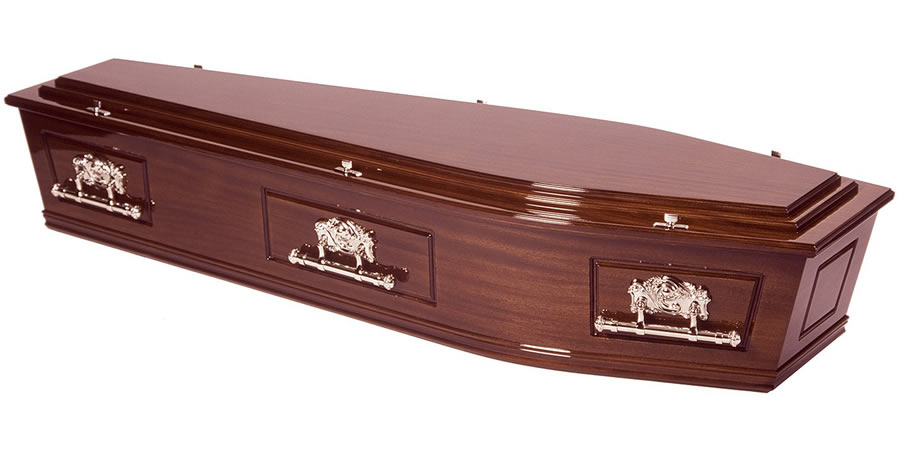 Solid Mahogany Coffin/Casket