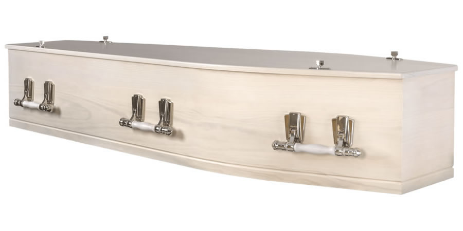Whitewashed Solid Pine Coffin/Casket